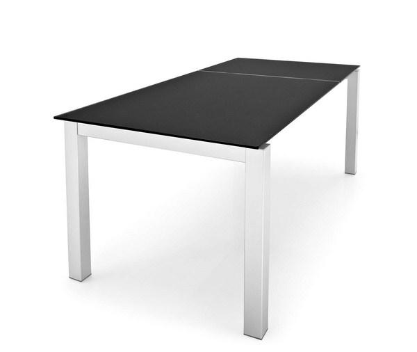 Airport One Tisch ~ Calligaris Tisch AIRPORT ONE CS 4011 S in Sicherheitsglas schwarz Gestell mat