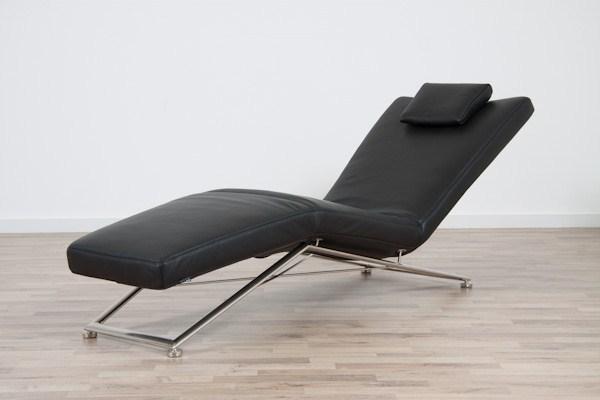 koinor liege jeremiah mit elektromotor leder qualit t c farbe schwarz ebay. Black Bedroom Furniture Sets. Home Design Ideas